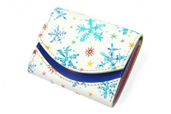 【極小財布・小さい財布】小さいふ。ペケーニョ Blue snow【アートシリーズ】
