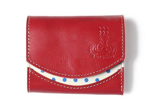 小さい財布 小さいふ。47都道府県シリーズ「ペケーニョ 温泉 × 豆絞り(豊後絞り)」赤×白