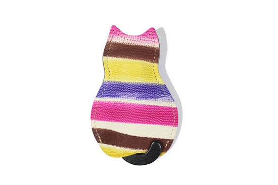 【猫グッズ】猫のうしろすがたをしたキーケース限定カラー 「アーティー/ボーダー・ブラウン」クアトロガッツ