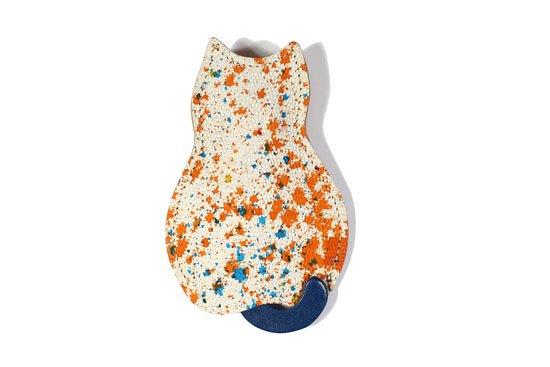 【猫グッズ】猫のうしろすがたをしたキーケース限定カラー 「アーティー/ペイント・オレンジ」クアトロガッツ