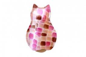 【猫グッズ】猫のうしろすがたをしたキーケース限定カラー 「ステンド」クアトロガッツ