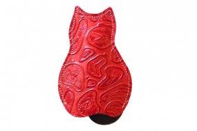 【猫グッズ・本ヌメ革レザー】猫のうしろすがたをしたキーケース限定カラー 「ダリ」クアトロガッツ