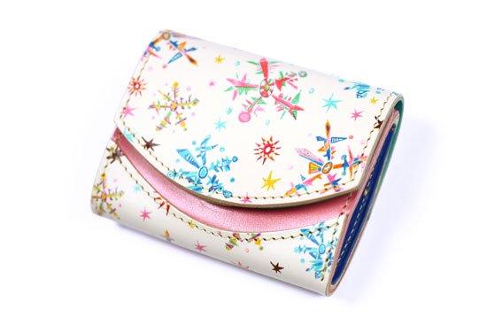 【極小財布・小さい財布】小さいふ。ペケーニョ Pink snow【アートシリーズ】