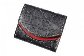 【極小財布・小さい財布】小さいふ。ペケーニョ ブラックハートホワイトデー【アートシリーズ】