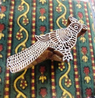 ANOKHI ウッドブロック木版 鳥
