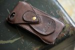 iPhoneSE Case Italy Vachetta leather Choco