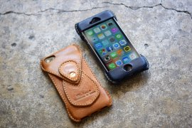 iPhoneSE All Leather Case [Camel & Navy]
