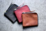 Shading Leather Short Zip Wallet