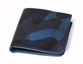 Roberu Short Wallet Italy Vachetta Navy Camouflage