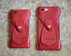 Roberu iPhone8, iPhone8 Plus Case / Italy Vachetta leather [ iPhone7 & 7Plus対応 ] ULTRA RED