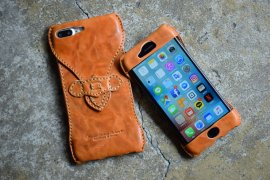 iPhone8, iPhone8Plus Case / Washed Italy All Leather
