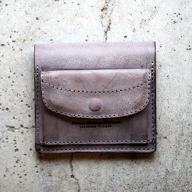Compact Wallet Italy Wax Leather Gray<img class='new_mark_img2' src='https://img.shop-pro.jp/img/new/icons13.gif' style='border:none;display:inline;margin:0px;padding:0px;width:auto;' />