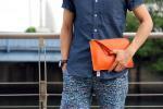 iPadmini Zipクラッチバッグ Retinaディスプレイ対応〔Kindle fire HD対応]Orange