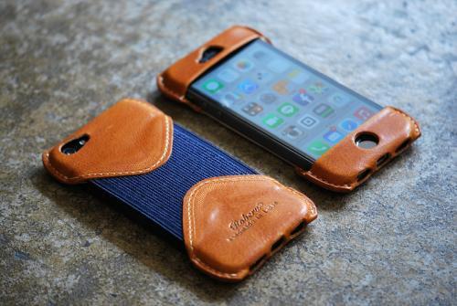 iPhone SE Case Camel Leather