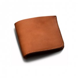 Roberu Short Wallet Shading Leather Camel