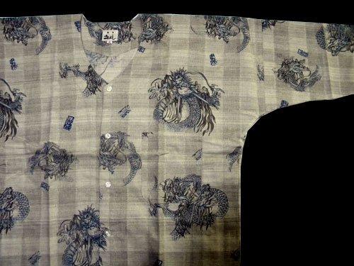 龍柄 鯉口シャツ 大(身長162~168cm)日本製