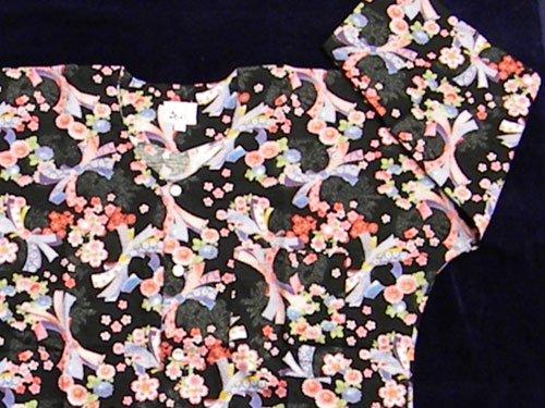 鯉口シャツ(のしめと花柄) 大 日本製 35