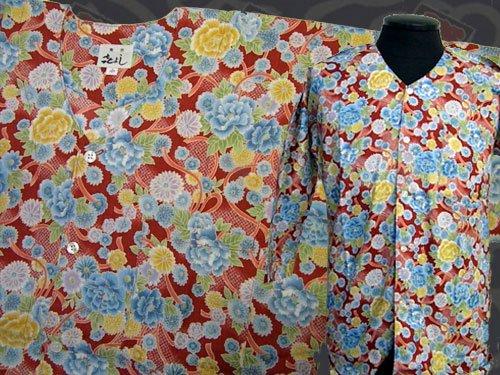 日本製の粋な鯉口シャツ  小サイズ 106