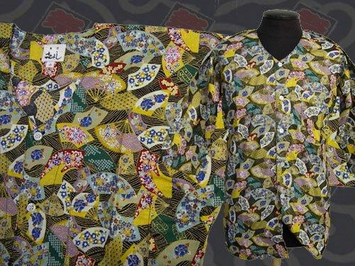 日本製の粋な鯉口シャツ  小サイズ 108