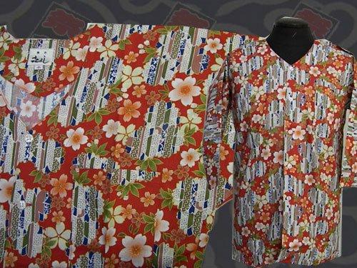 日本製の粋な鯉口シャツ  小サイズ 109