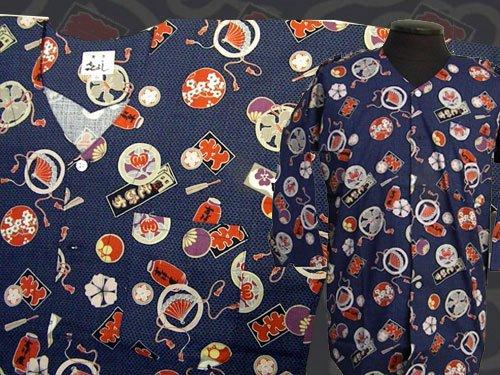 日本製の粋な鯉口シャツ 中サイズ 113