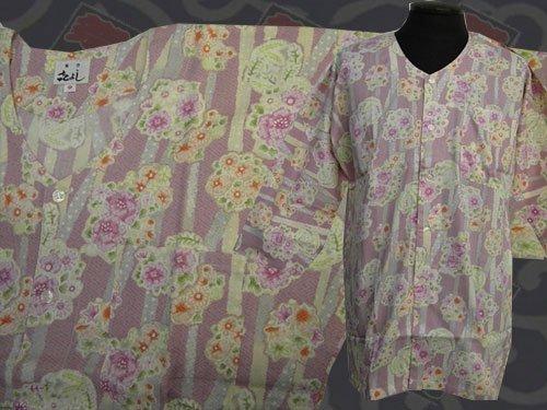 日本製の粋な鯉口シャツ 中サイズ 116