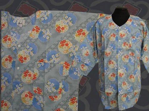 日本製の粋な鯉口シャツ 大サイズ 125