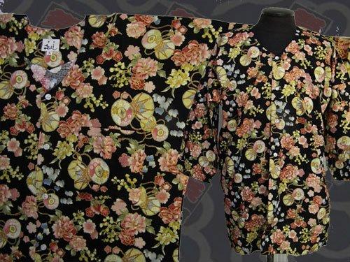 日本製の粋な鯉口シャツ 大サイズ 129