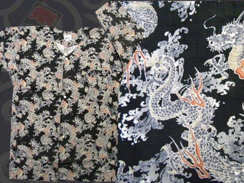日本製の粋な鯉口シャツ 中(M)サイズ