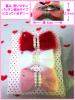 【送料無料】リボン型ヘアピン3個セット(赤・白・ベビーピンク)
