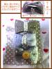 【送料無料】リボン型ヘアピン3個セット(モカブラウン・グレー・グレー)