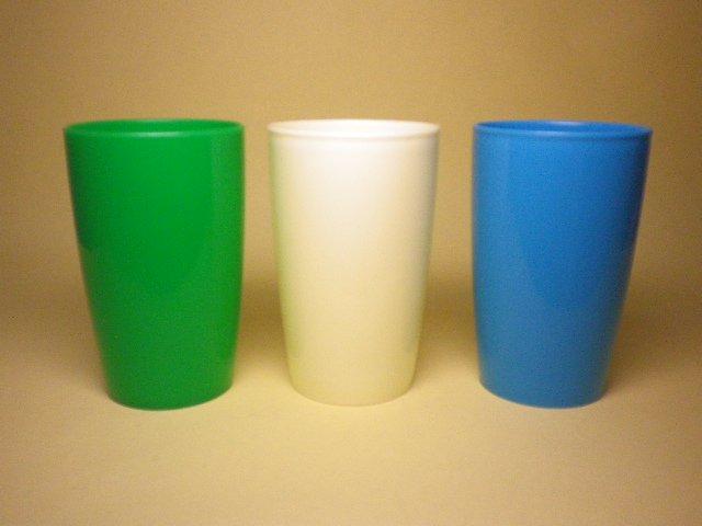 レトロ 高島屋ノベルティ プラスチックコップ 3色セット