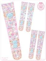 チョコミントくまのコティーちゃんのスウィーツワンダーランドオーバーニーソックス☆ 8WS016