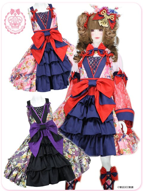 8W1019 濃姫の戦国月夜の乙女 夢幻の恋変化ジャンパースカート