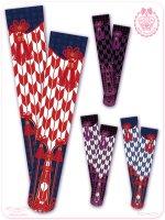 8WS018 乙女蒔絵の矢絣宴  花押手箱の真夢絵巻  オーバーニー    ソックス♪