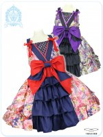 LVW1020 ラブリー濃姫の戦国月夜の乙女 夢幻の恋変化ジャンパースカート (大きいサイズ和ロリータ・ロリィタ)