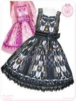 8W1021 乙女蒔絵の矢絣宴 花押手箱の真夢絵巻ジャンパースカート