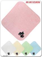 ネコミミ 9WT003 ひっかきジュピリン刺繍のハンドタオル(ゴスロリ、パンク、キャラクター)