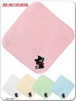 ネコミミ 9WT001 カプカプジュピリン刺繍のハンドタオル(ゴスロリ、パンク、キャラクター)