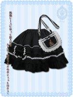 (ゆめかわいい大きいサイズ)ノワゼットローズポシェットスカート LVN5003