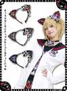 猫耳タータンチェックセーラーカチューシャ 9RA009☆パンク☆