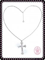 ラブリー十字架ネックレス 88A005