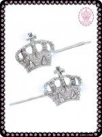 王冠モチーフヘアピン(ビッグ) 88A053