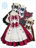 LV1015 ラブリースウィートアンティーク ティーパーティージャンパースカート(ゆめかわいい大きいサイズロリータ・ロリィタ)