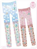 ☆チョコミントくまのコティーちゃんの虹色お空のかくれんぼ☆タイツ☆  8WS006