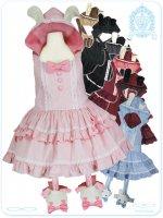 LV1029 ブランラパンのうさちゃんのスウィート☆サロペットスカート(うさちゃんガーター付き)(夢かわいい大きいサイズロリータ・ロリィタ)