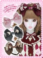 黒猫アリスのマジカル☆ダイヤ柄の不思議な懐中時計カチューシャ 8WH006