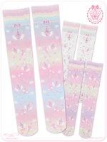 ☆虹色魔法のマジカルスティツク☆オーバーニーソックス☆ 8WS011