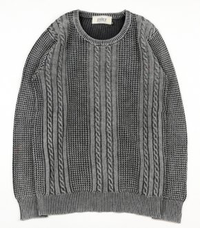 【EARLY】Stone Wash Cable knit<img class='new_mark_img2' src='//img.shop-pro.jp/img/new/icons41.gif' style='border:none;display:inline;margin:0px;padding:0px;width:auto;' />