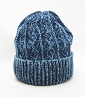 【EARLY】Indigo Cable Beanie